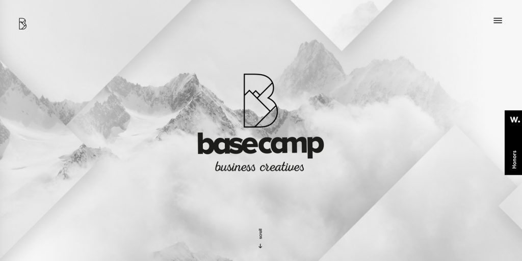 Minimal Website: basecamp