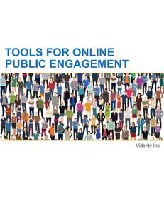 Tools for Online Public Engagement